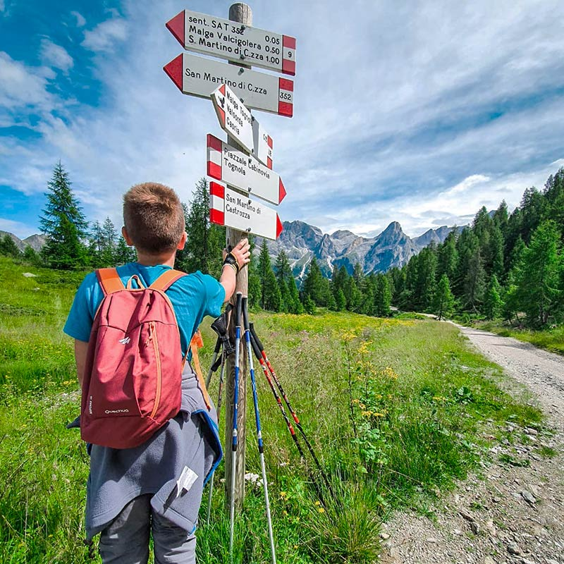 Trekking-Sentiero-Valcigolera-Alpe-Tognola-Dolomiti